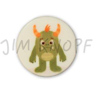 knop monster groen kunststof 16 mm