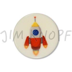 knop raket oranje kunststof 16 mm