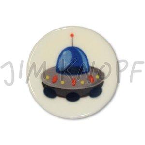 knop raket blauw kunststof 16 mm