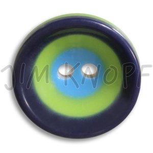 blauw knop kunststof 16 mm
