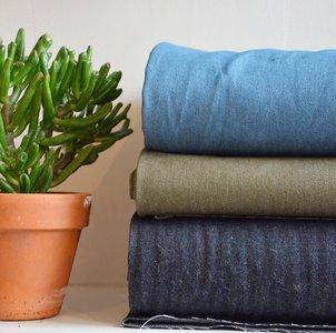 kaki groen jeans - dikkere jeansstof