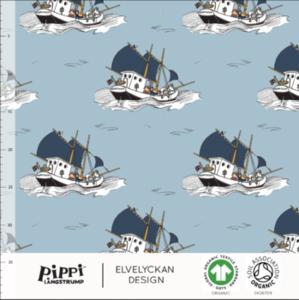 Pippi boat sky blue-  jersey