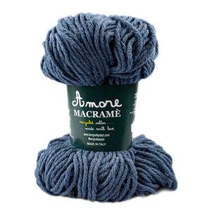 Borgo de pazzi Amore Cotton Macramé jeans blauw