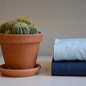 licht blauwe jeans - dunne katoen chambray