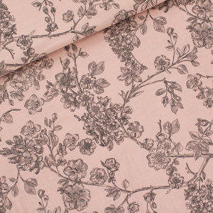 Cherry blossom pale pink - double gauze