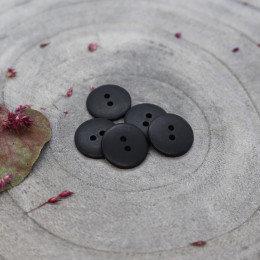 black - classic matte knoopje 15 mm