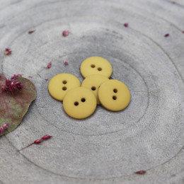 mustard - classic matte knoopje 15 mm