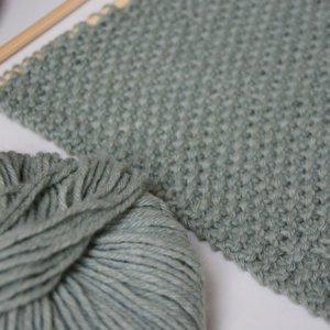 Breipatroon sage sjaal