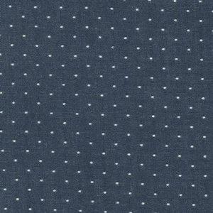 cotton chambray dots indigo - chambray