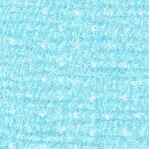 dots on blue - triple gauze