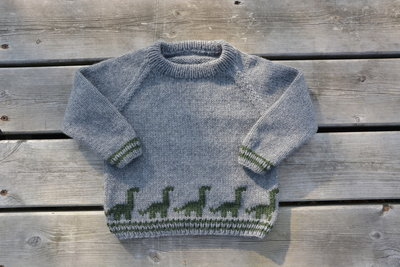 Breipatroontje dino Sweater NL
