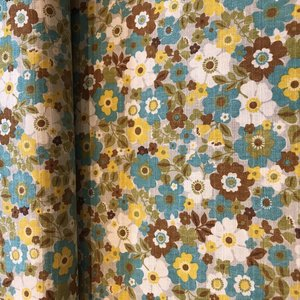 flower turquoise - cotton
