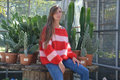 Eenvoudige trui met strepen