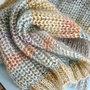 Breipatroon Rainbow sjaal